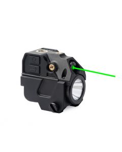L104G outdoor LED torch with green torch under the flashlight  rechargeable 20mm card slot