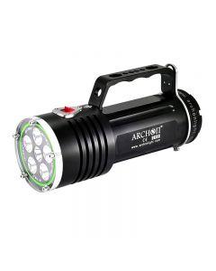 ARCHON DG60 WG66 6*CREE XM-L2 U2 LED Max 5000lm 3 Modes LED Diving light +6*18650 Battery+Charger