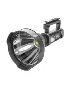 Portable XHP70 Flashlight USB Rechargeable Searchlight Waterproof Spotlight with Bracket