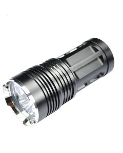 SKYRAY KING Black 3T6 3xCREE XML-T6 2000-Lumen 3 Modes LED Flashlight(4x18650)