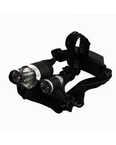 Black Color 1*Cree XM-L T6+2*Cree -R5  2200-Lumen 4-mode LED Bicycle Light with Battery charger