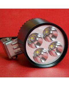 Moto LED Work Spot Light 35W 3500-Lumen 4*Cree XM-L U2 4T6 LED white light Motorcycle Driving Light
