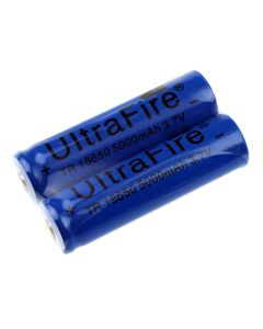 UltraFire TR 18650 3.7V 5000mAh Li-ion Rechargeable Unprotected Battery(1 Pair)