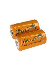 Ultrafire XSL 18350 1200mAh 3.7V  Li-ion Battery( one pair)