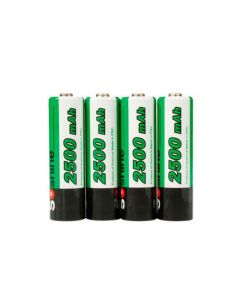 Soshine 2500mAh AA 1.2V Ni-Mh Rechargeable Battery with Battery Case(4-Unit)