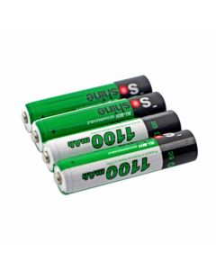 Soshine 1100mAh AAA 1.2V Ni-Mh Rechargeable Battery with Battery Case(4-Unit)