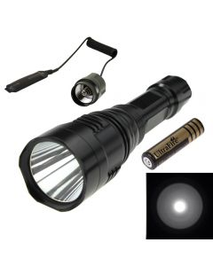 No Logo HS-801 Cree Q5 Long Range LED Flashlight Torch with 2*18650+Remote Control Switch