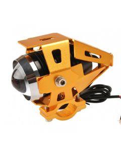 IP68 Moto Transformers 3000-Lumen Cree XM-L U5 LED Motorcycle Light Fog Light Spot Light(3 Modes,DC12~80V,Gloden Case Body)