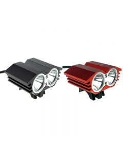 SolarStorm X2 M2 2*Cree XML-T6 2000 Lumen 4 Mode LED Bike Light Set with 4*18650 Battery Pack-Black