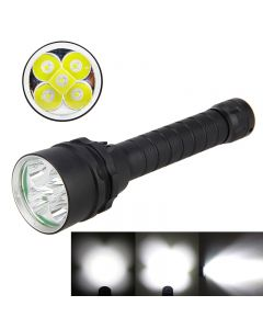 5L2 8000-Lumen 5*Cree XM-L2 magnetic dimming LED Diving Torch(2*18650,not included)