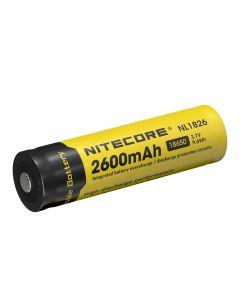 Nitecore NL1826 3.7V 9.6Wh 2600mAh 18650 Battery Protected Li-ion Battery(1pc)