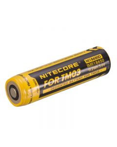 Nitecore 3.6V 11.2Wh DEDICA Battery Rechargeable Li-ion Battery for TM03 Flashlight(NI18650D)-1pc