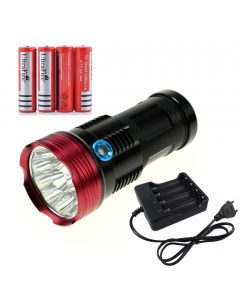 11T6 king led flashlight 11xT6 waterproof torch recharger Torch light with 4x 18650  battery for Camping