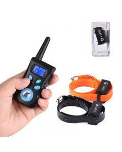 PaiPaitek Dog Training Collar PaiPaitek 500M Rechargeable Electrical Anti Bark Waterproof Remote Pet Training Tool Energy- PD520C-2