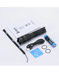 Wuben LT35 Pro Zoomable LED Flashlight USB Rechargeable Torch 1200 Lumens 18650 Battery