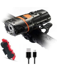 Super bright bicycle front light 1200 lumens IPX6 waterproof 6 modes cycling light flashlight
