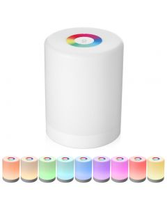 USB Rechargeable Smart LED Touch Control Night Light Bedside Dimmable RGB Lamp