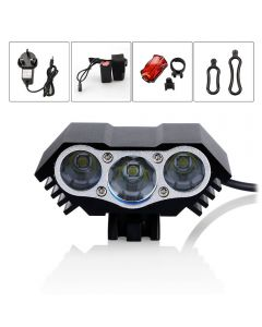 LED m3 bicycle headlight and taillight set strong light for 2 hours 3T6 headlight