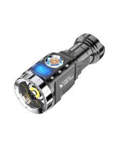 Mini flashlight outdoor portable rechargeable flashlight battery aluminum alloy fishing lantern