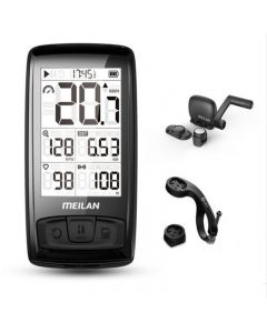 Waterproof Meilan M4 Wireless Bike Computer Bicycle Speedometer Odometer with Cadence/Speed Sensor
