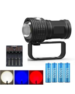 Diving set Flashlight 11000lumens LED COB Long Shot Underwater Waterproof Photography Video Torch Including battery and charger