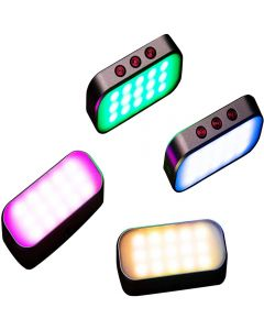 7 Colors Light Pocket Selfie Fill Light 360mah Rechargeable Battery for Phone Photos/Live Streaming/Zoom Calls/Video Shooting/Disco Party (1 Piece)