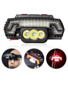 T6 LED bicycle headlight USB charging sensor headlight mountain bike warning taillight 8 modes
