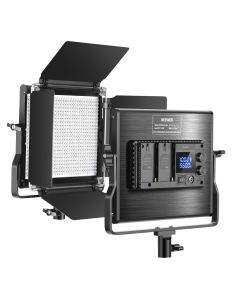Neewer Upgraded 660 LED Video Light Dimmable Bi-Color LED Panel with LCD Screen for Video Shooting Photography