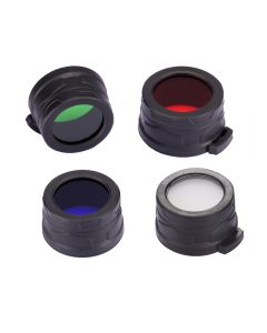 Nitecore RGB/W (Red, Blue,Green,White ) 40MM Filter/Diffuser Fit for Nitecore EA4, MH25, P25 Led Flashlight