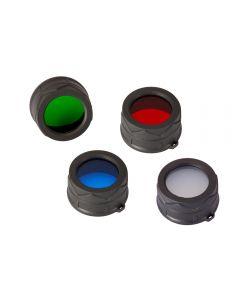 Nitecore RGB/W (Red NFR34, Blue NFB34,Green NFG34, White NFD34) 34MM Filter/Diffuser Fit for Nitecore MT25, MT26, EC25 Led Flashlight