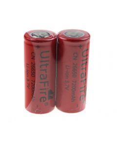 UltraFire CN 26650 3.7V 7200mAh Unprotected Li-ion Battery-2 Pack
